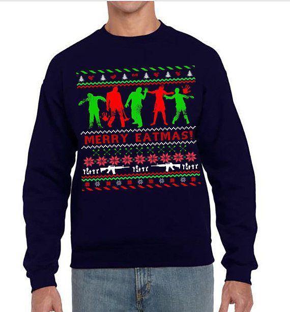 Walking Dead Christmas Sweater.Ugly Christmas Sweater Ugly Christmas Party The Walking
