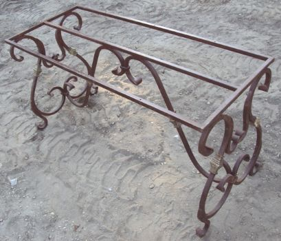 Item Rc3938 Wrought Iron Table Base Recycling The Past