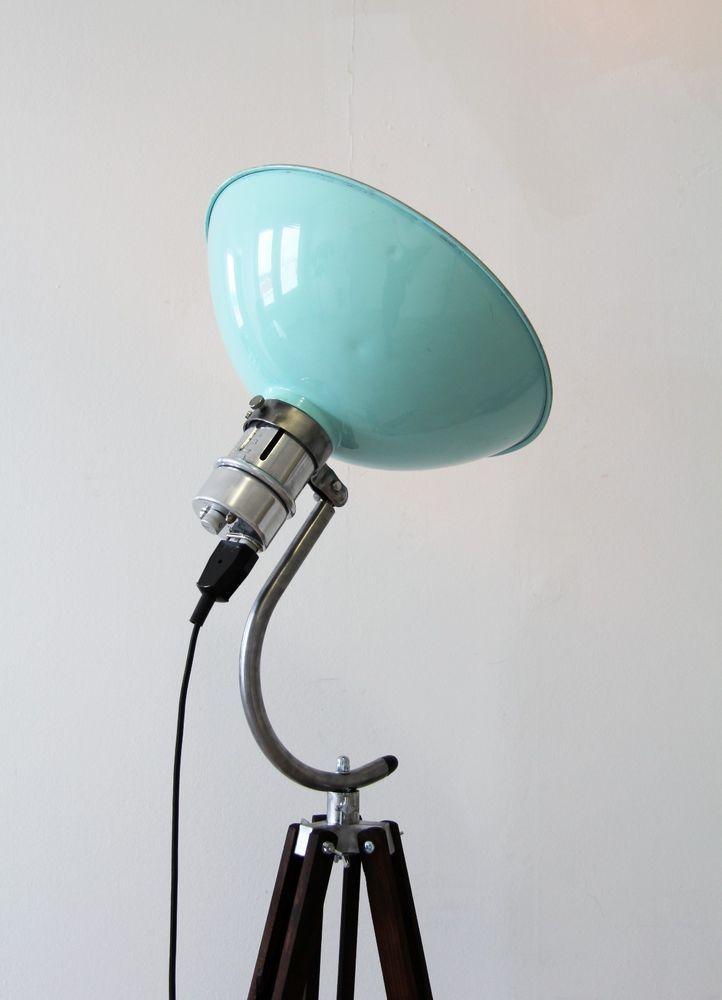 Tripod Steh Lampe Arzt 50er Holz Stativ Shabby Retro Vintage Bauhaus 21neun Loft In Mbel