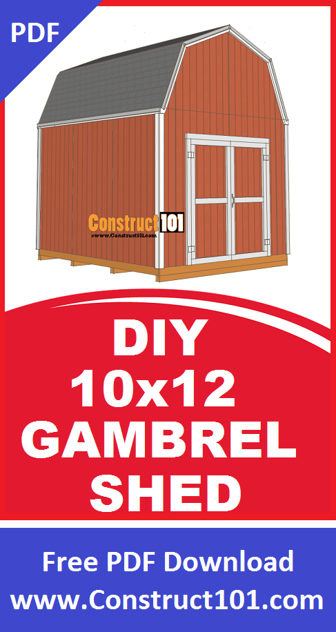 Shed Plans 10x12 Gambrel Shed Construct101 In 2020 Shed Gambrel Shed Plans