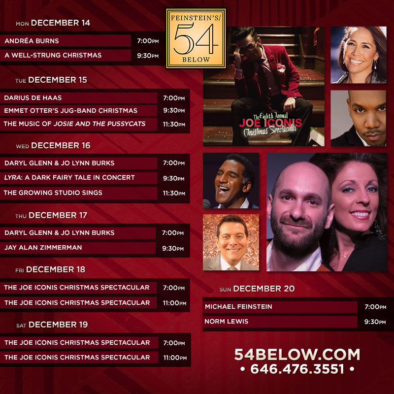 Week of December 14th, 2015 performance schedule. Click to buy tickets.