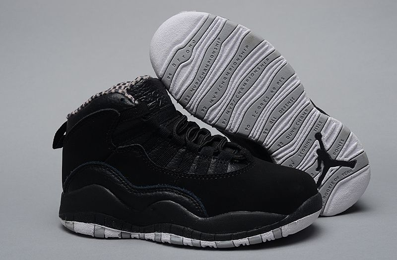 Kids Air Jordan 10 Retro All Black Keep Moving Shoes on Sale 45549. Cheap Nike  Shoes for Kids 5fd29b05a