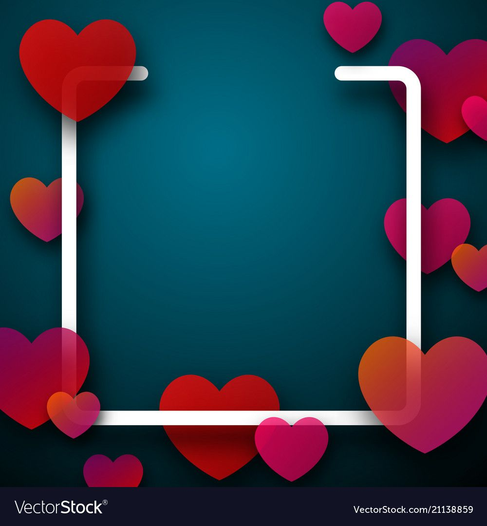 Valentine S Square Card With Hearts Royalty Free Vector Square Card Valentines Wallpaper Birthday Background Design