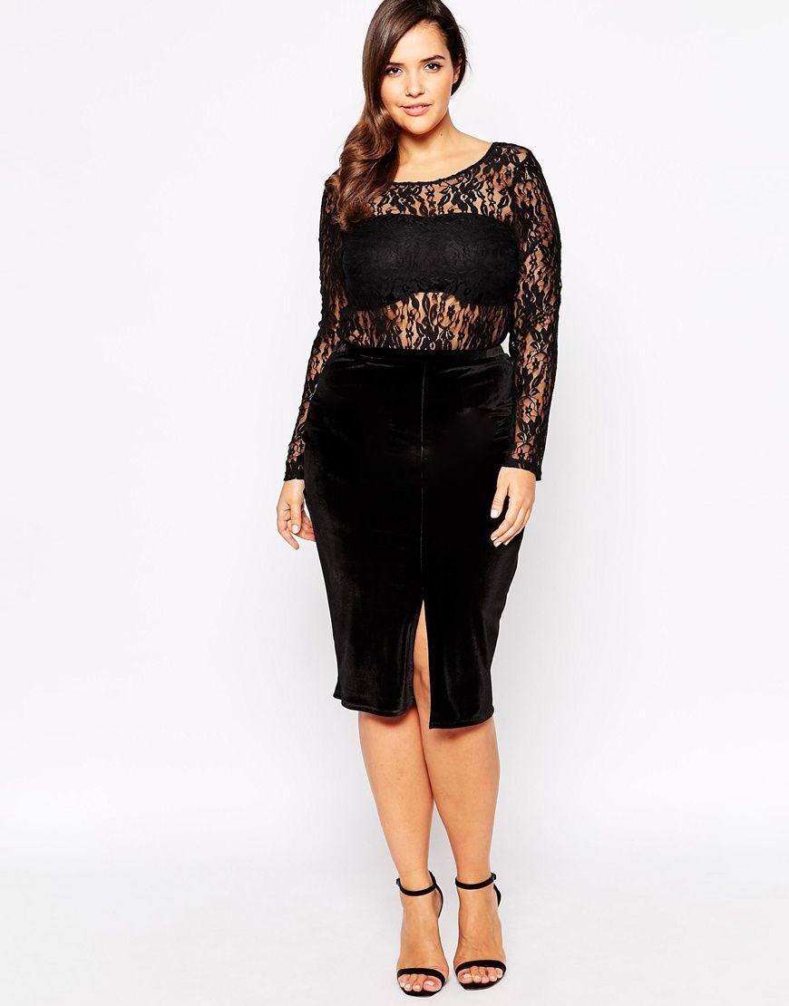 Lace bodysuit styles  Plus Size Lace Bodysuit  Ropa bella  Pinterest  Bodysuit Curvy