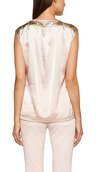 Elegant silk top   marc-cain.com en   SS16 Spring garden   Pinterest ... 5ae7b2c048