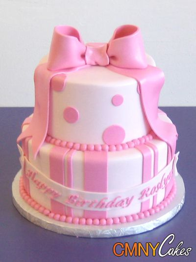 1 Tier Bow Cake