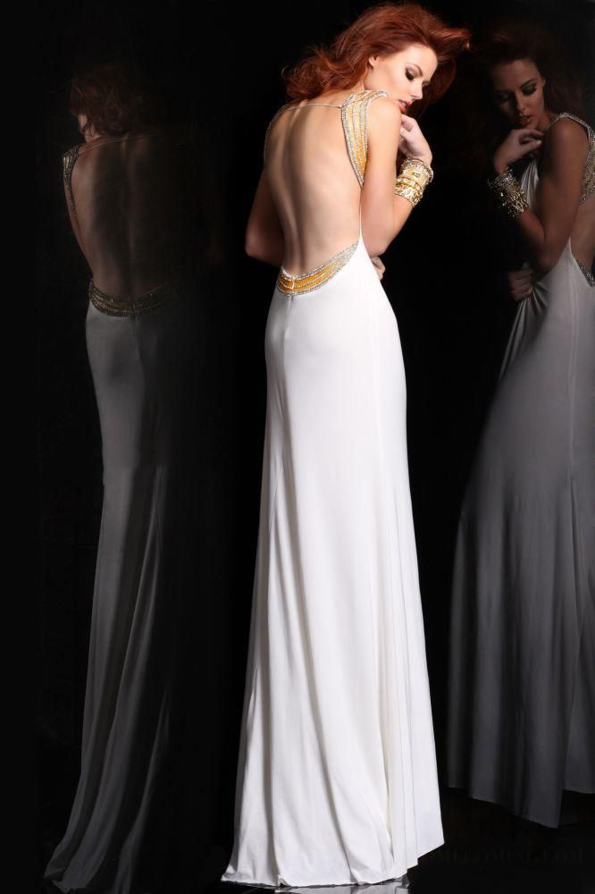 ihomecoming.com SUPPLIES Chic Luxurious Sheath Straps Beading Backless Floor-length Evening Dress Sexy (2)