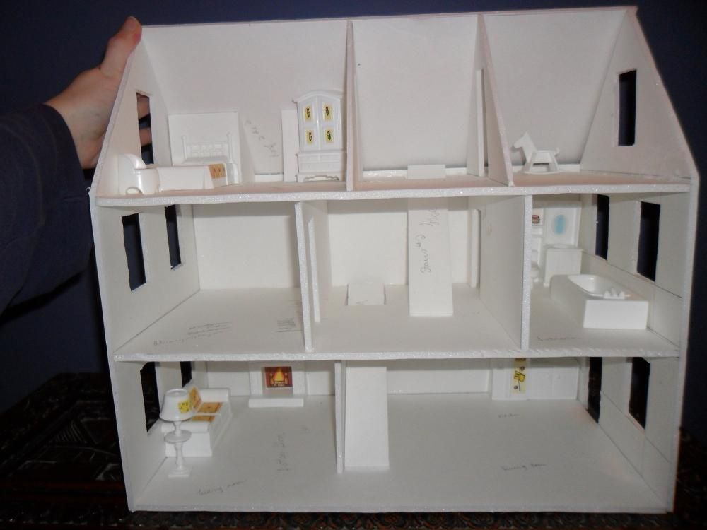 Second Foam Core Dollhouse Wip 3 Configuration By Kayanah Cardboard House Doll House Plans Mini Doll House