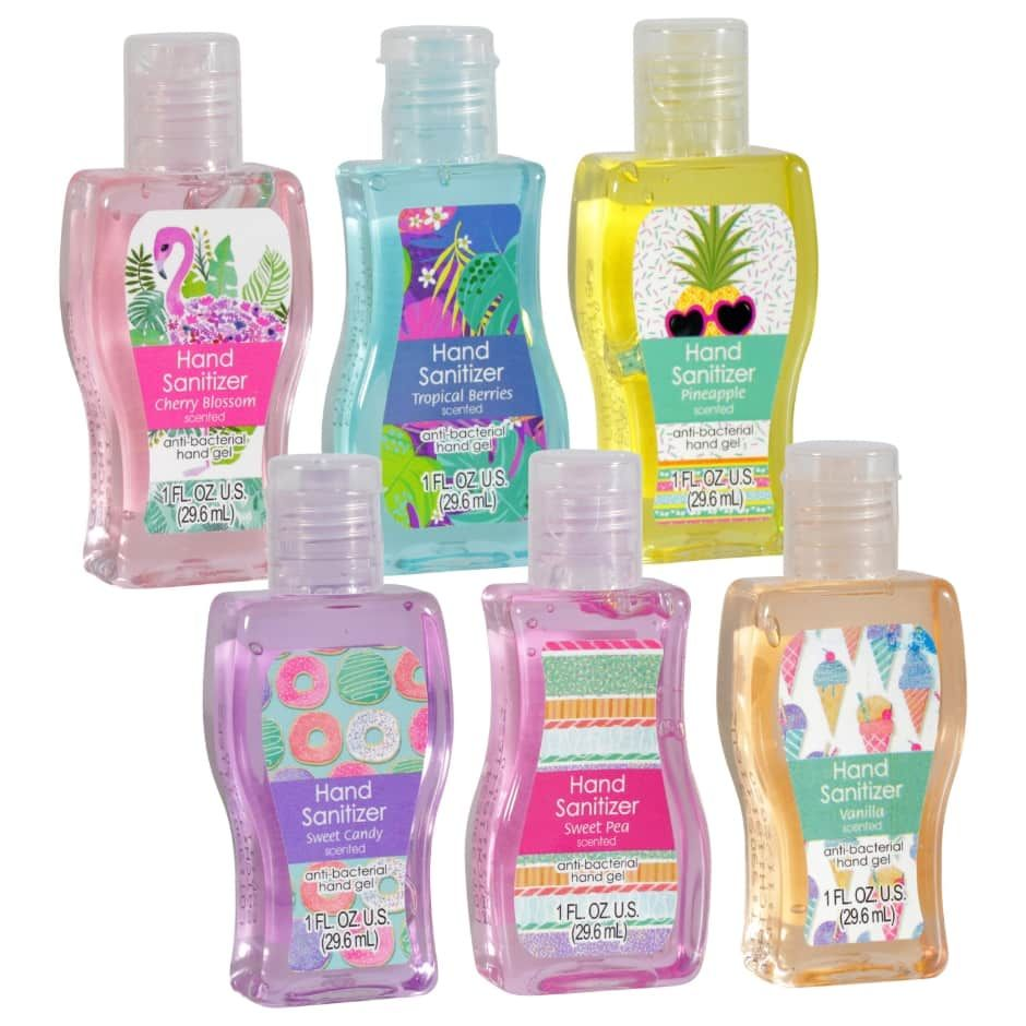 Travel Size Scented Hand Sanitizer 3 Ct Packs Travel Size