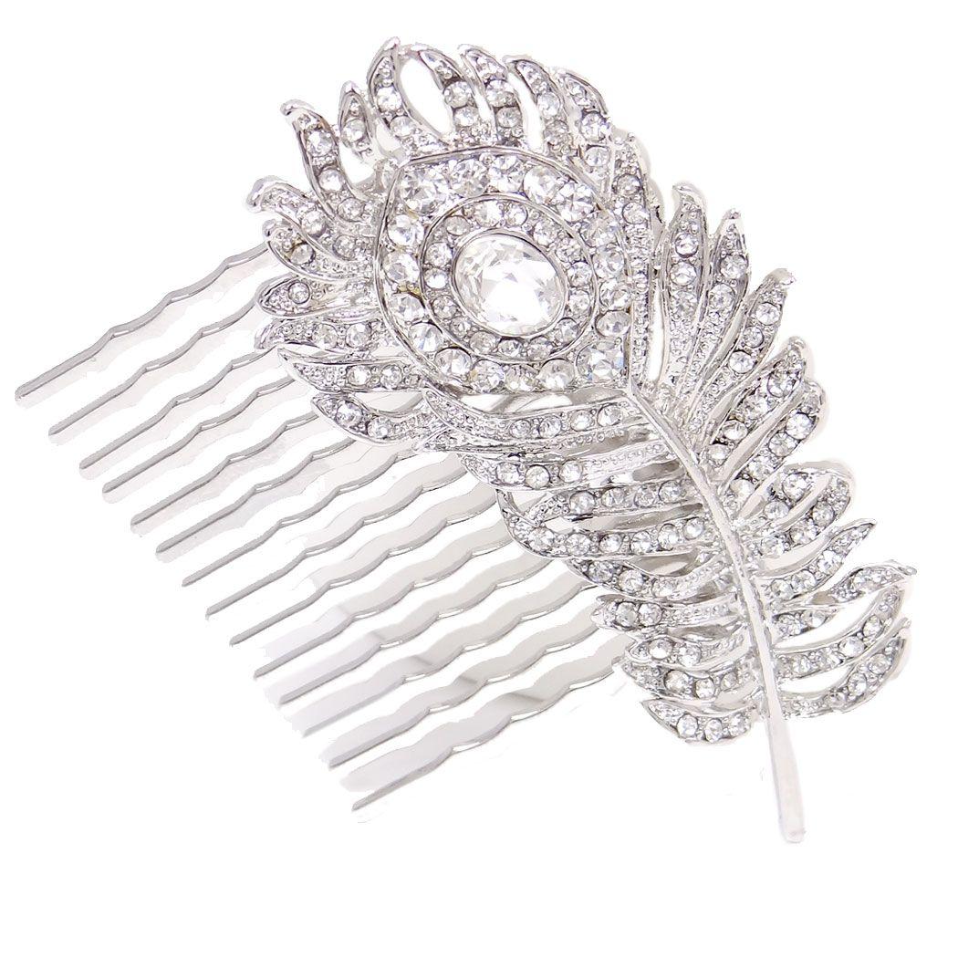 Realisez votre coiffure de mariage avec nos peignes spécials epingles  facile à fixer dans vos cheveux  bijou de tete format XL pour chignon bas  vintage