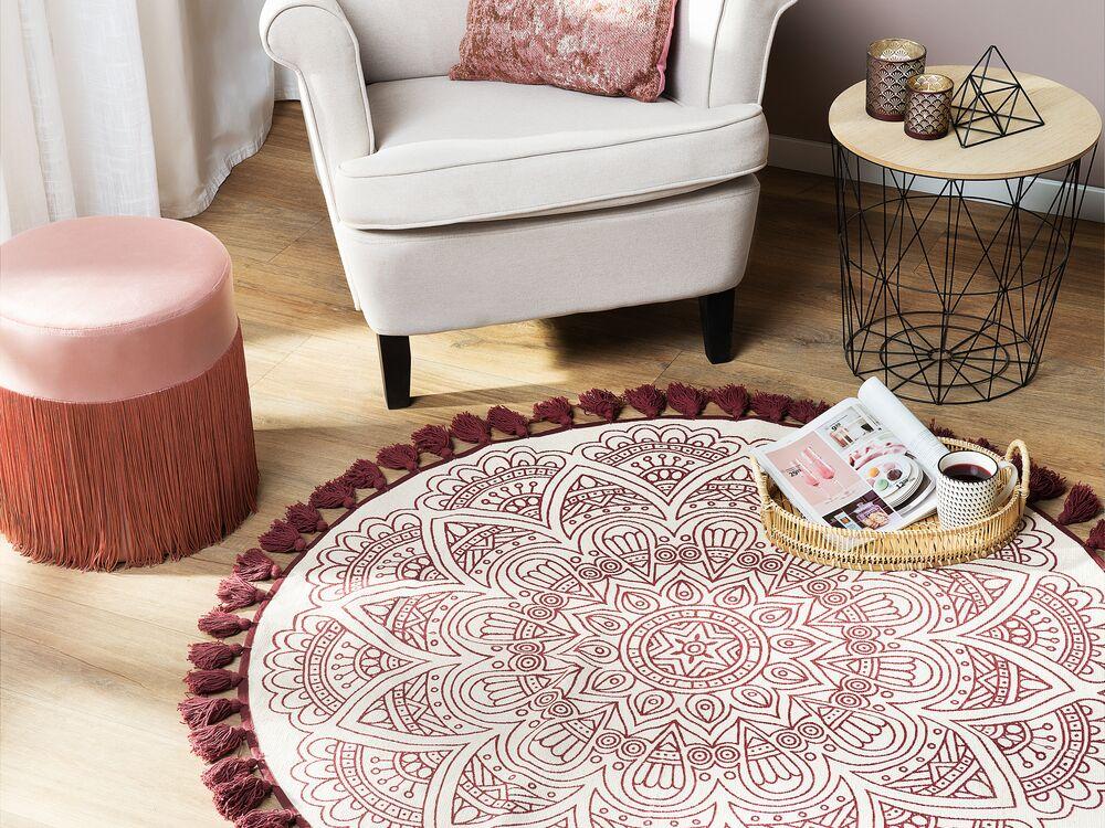 tapis rond 120 cm au motif oriental
