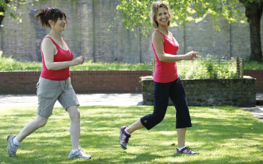 Judith Woods is put through her paces by fitness expert Joanna Hall, whose   booklet is free inside next Saturday's Telegraph.