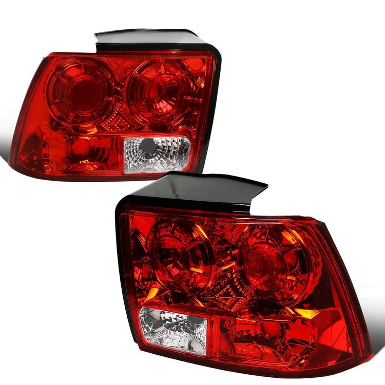 99 04 Ford Mustang Rear Brake Tail Lights Altezza Style Red Housing Tail Light Ford Mustang Mustang