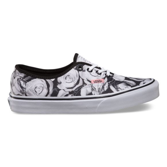 91453d0eb3 Vans Digi Roses Authentic - Black True White with a light pink accent
