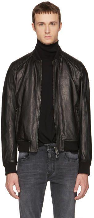 bb4189502 Belstaff Black Leather Pershall Jacket | Products | Belstaff ...