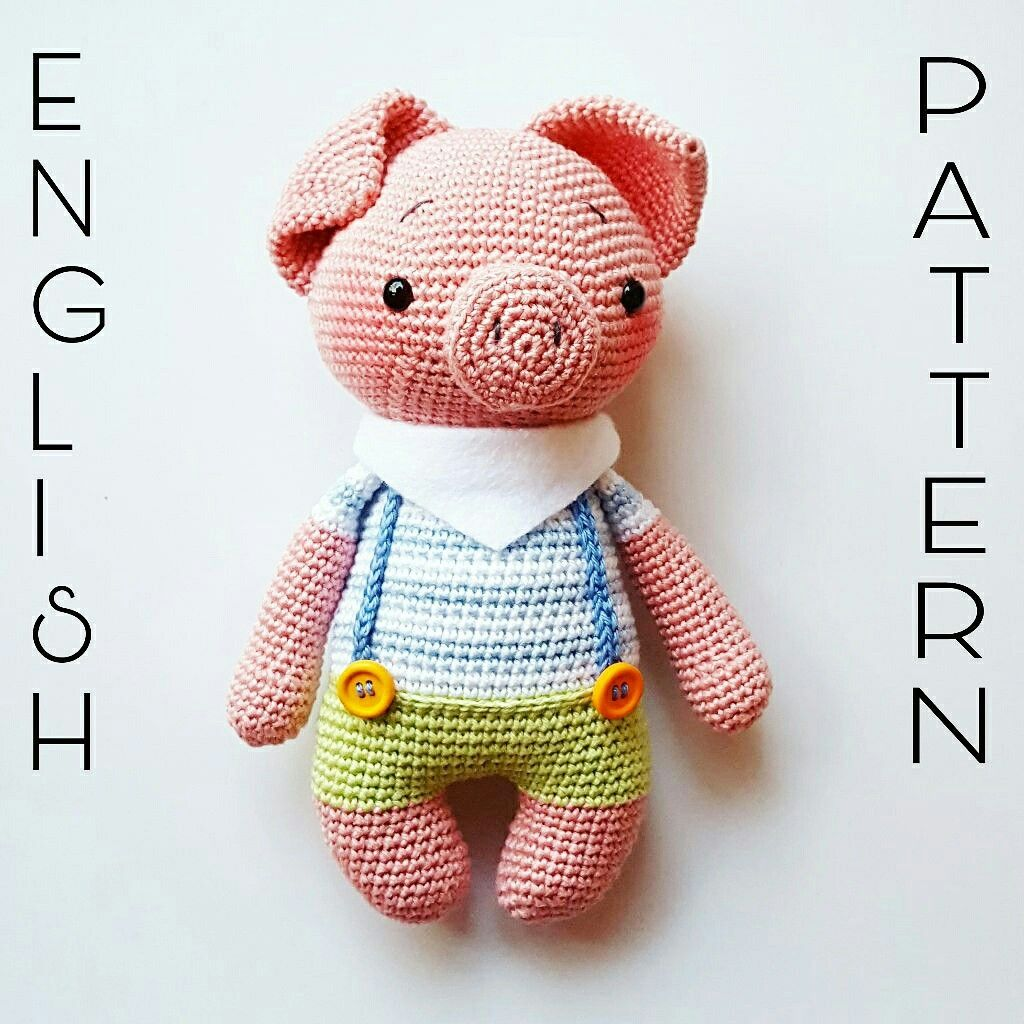 Freddy the little piglet Pattern Amigurumi Schwein Amalou.Designs ...