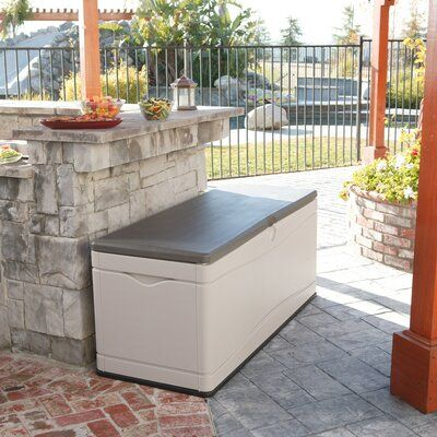 Lifetime 130 Gallon Plastic Storage Bench In 2020 Outdoor