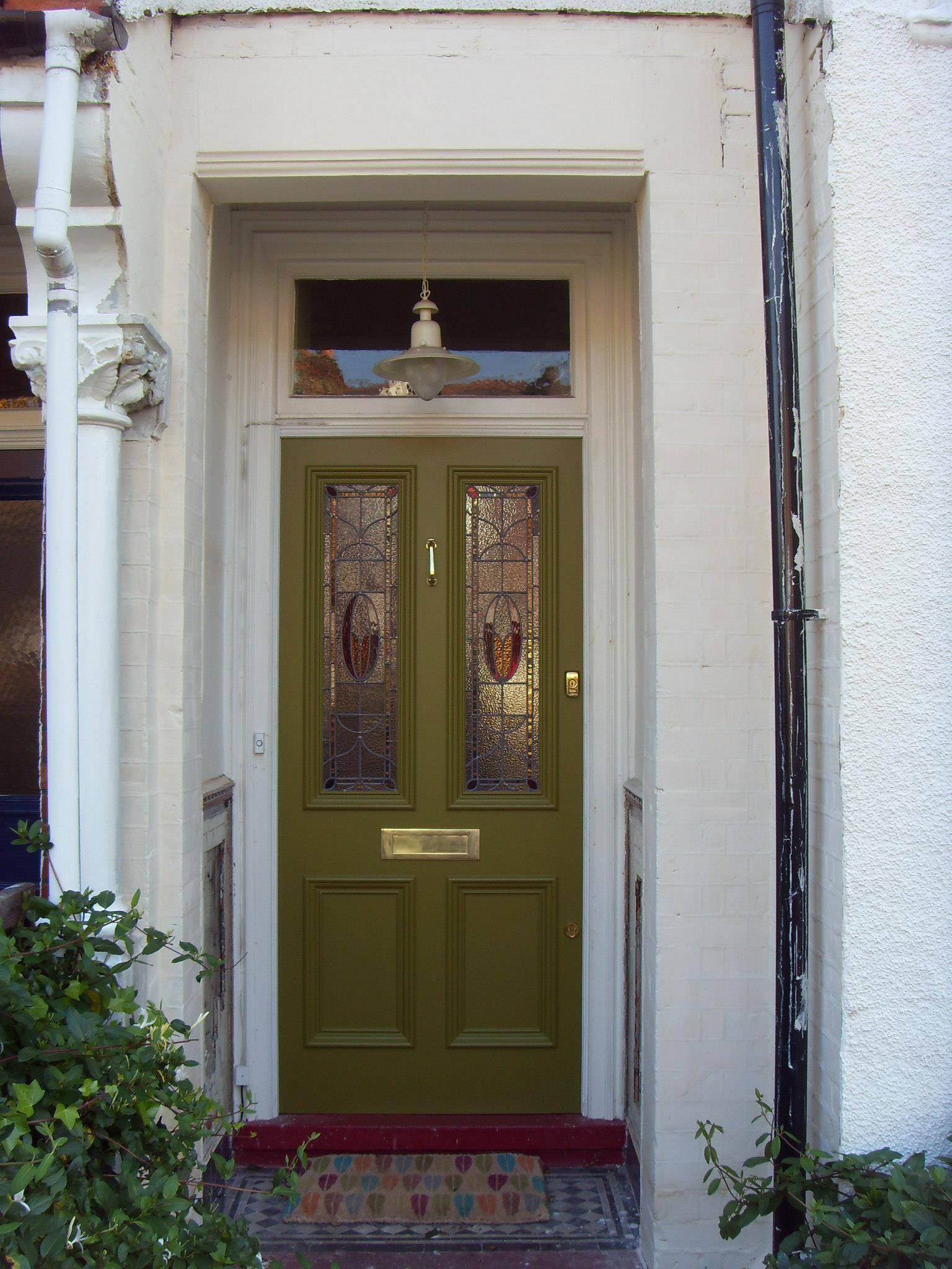 The London Door Company \'Pistachio green\' paint colour - Satin ...