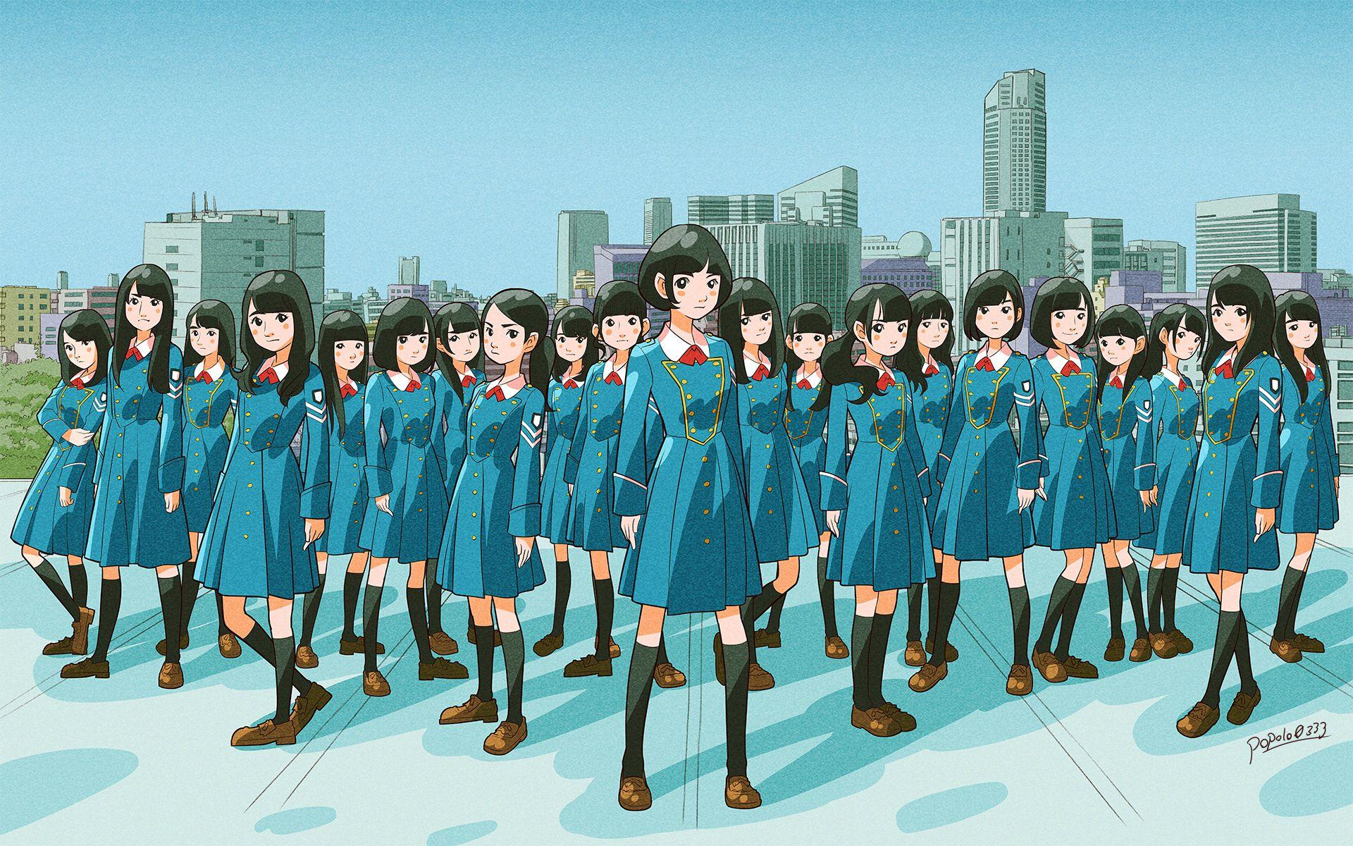 けやき坂46: 欅坂46 サイレントマジョリティー イラスト #欅坂46 #イラスト
