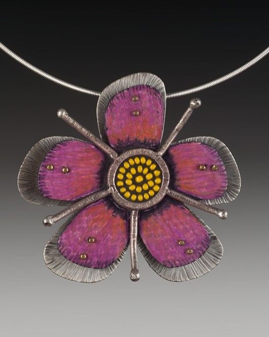 Handmade Pink Passion Flower Sterling Silver And Sead Bead In 2020 Jewelry Jewelry Art Jewelry Inspiration