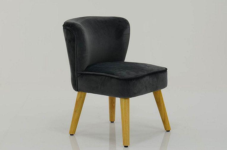 Groovy Tesco Direct Melody Small Accent Chair Dark Grey Velvet Machost Co Dining Chair Design Ideas Machostcouk
