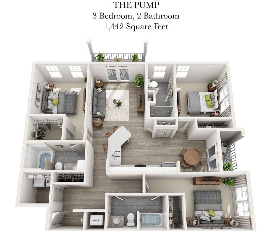 The Pump Sims House Plans Apartment Floor Plans Dream House Plans