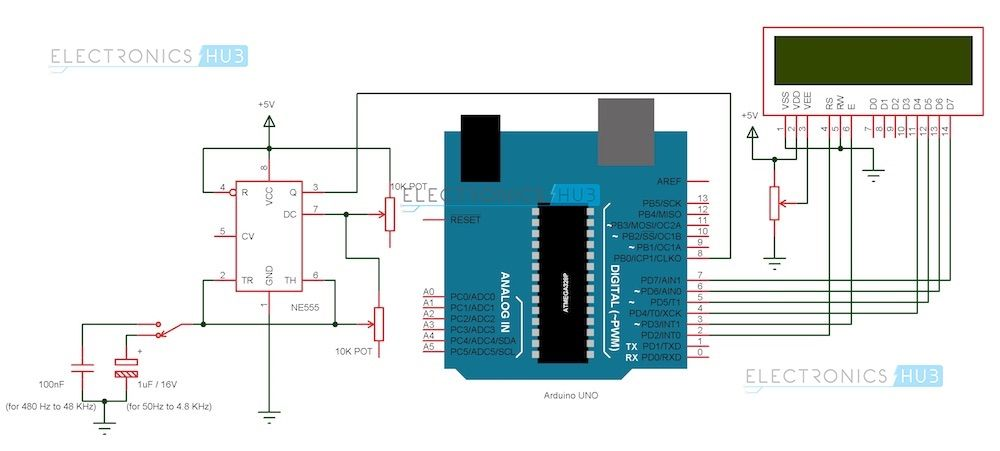 Frequency Counter Using Arduino Circuit Diagrams A Pinterest