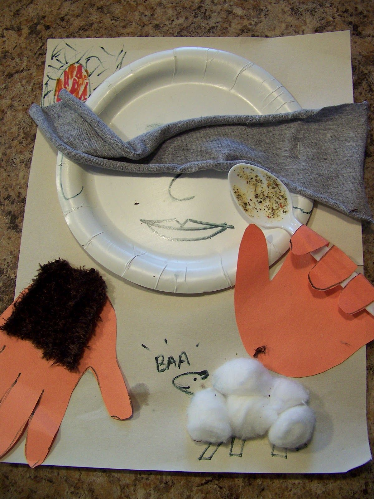 Five senses bible lessons wrap up all five senses for Jacob and esau crafts