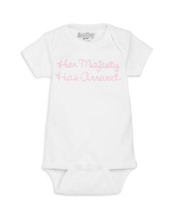 Sara Kety Girls' Her Majesty Has Arrived Bodysuit, Baby - 100% Exclusive