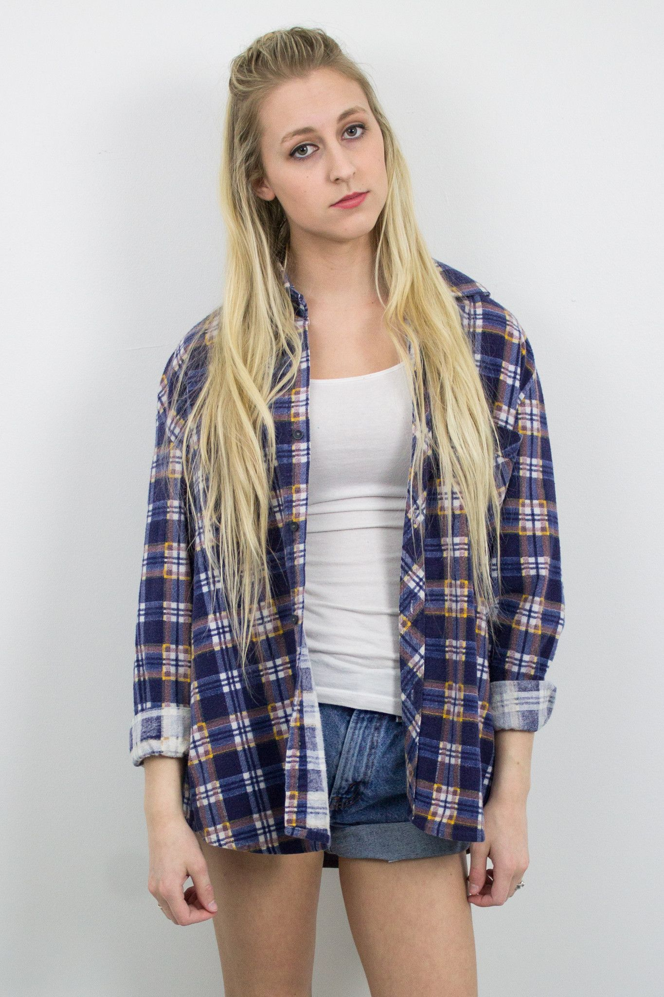 Flannel shirts 1990s  Vintage Plaid Grunge Flannel  Products  Pinterest  Flannels