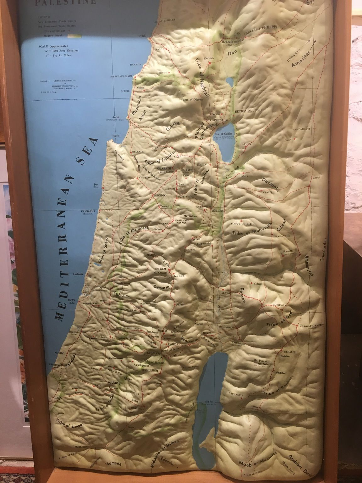 3D topographic map of Israel from 1950 | MAPS | Map, Topographic