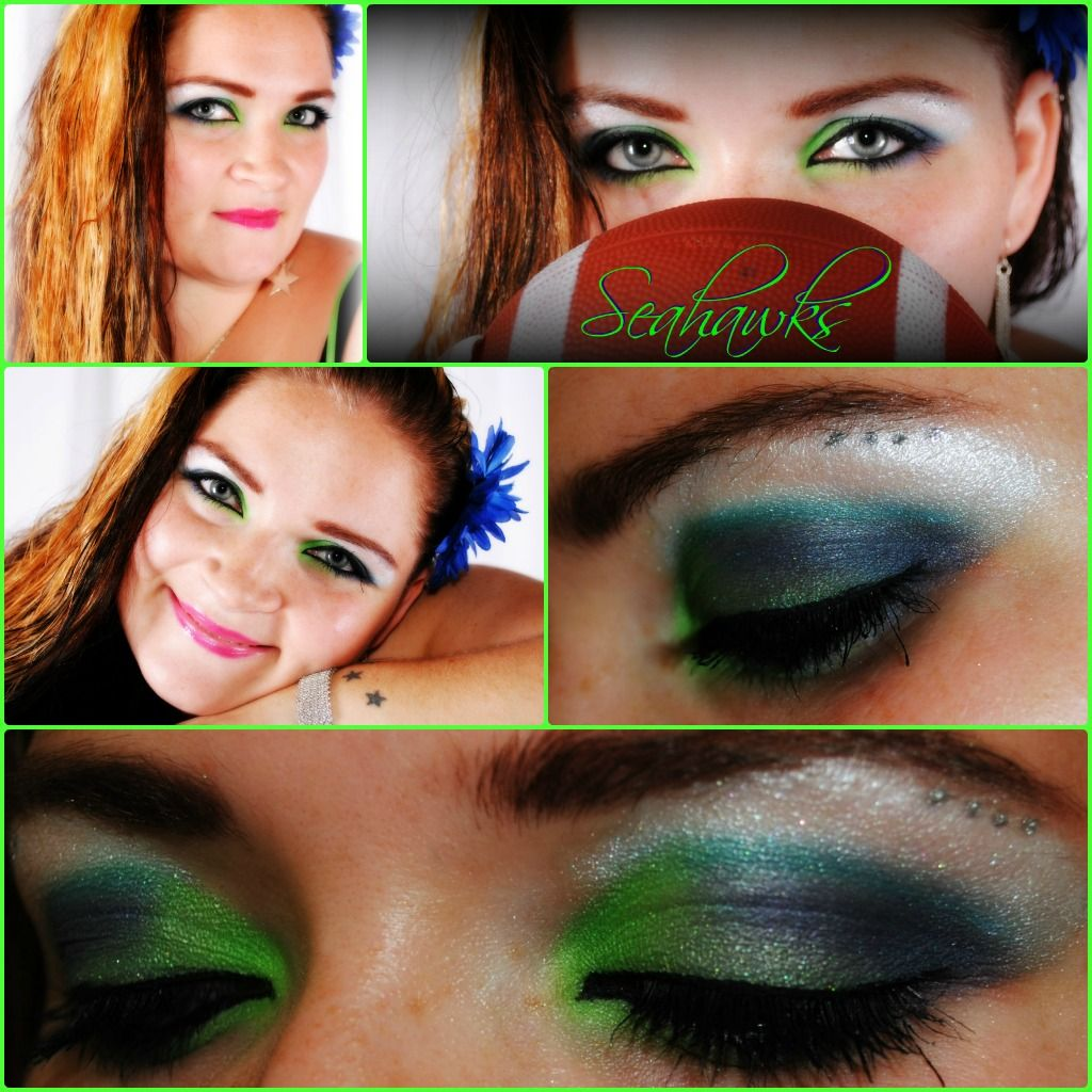 Seahawks eye makeup Makeup, Makeup addict, Eye makeup