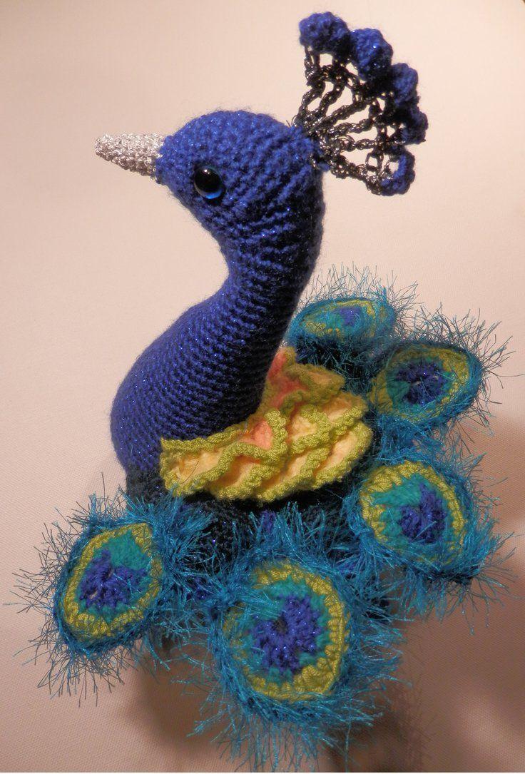 Blue Peacock Amigurumi by AtinaP on deviantART | Yarn -mostly ...