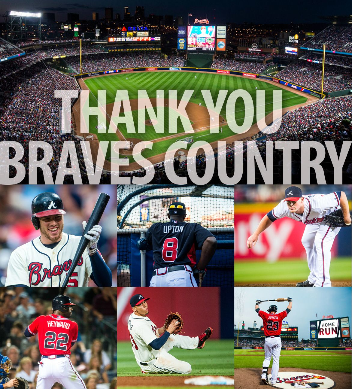 Thank You Braves Fans For All Of Your Support During The 2013 Season Atlanta Braves Atlanta Braves Baseball Braves