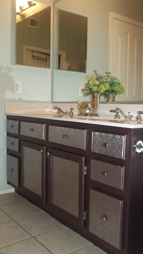 Photo Gallery Website Builder grade bathroom vanity makeover Silver sage paint designedtothenines