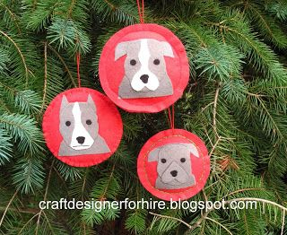 diy christmas pitbull ornaments vote for your favorite as a way of showing your loyalty to your dog these pitbull dog ornaments are made from felt
