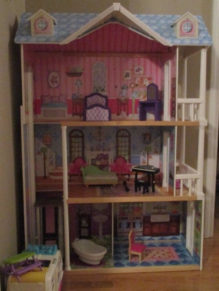 3 Story Barbie Doll Dream House Great Condition Some Furniture Pick Up Only Barbie Dolls Furniture Dream House