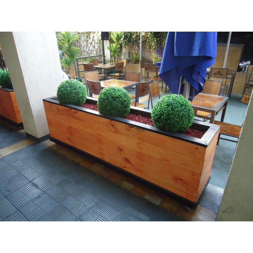 Jardinera en madera para exterior iz19xvzxxpz4xfz56014856 for Jardineras de madera para exterior