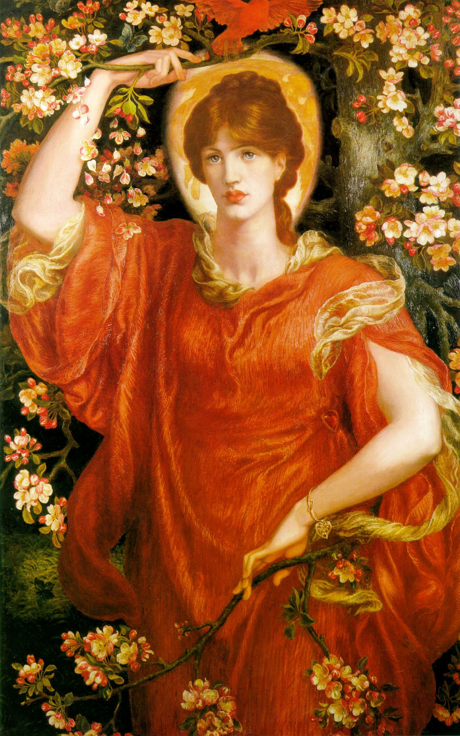 Dante Gabriel Rossetti (1828-1882)  A Vision of Fiammetta  Oil on canvas, 1878
