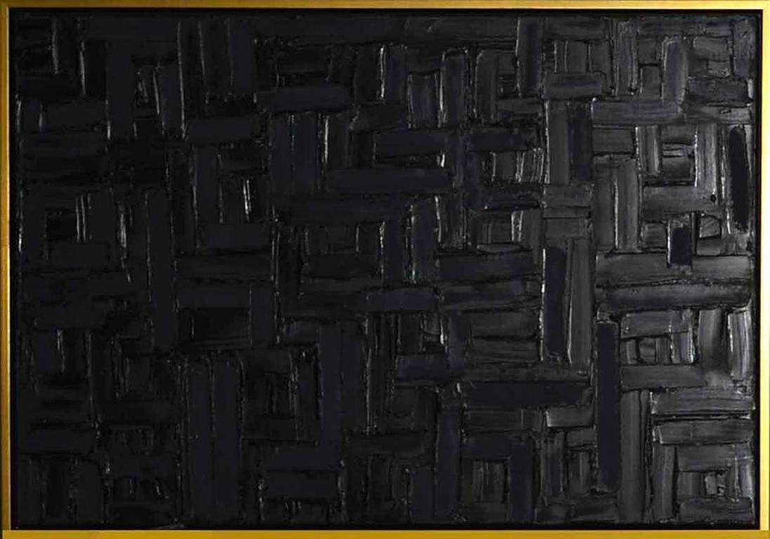 Lindsay Cowles Black On Black Painterly Texture Black Oil Color Mixing