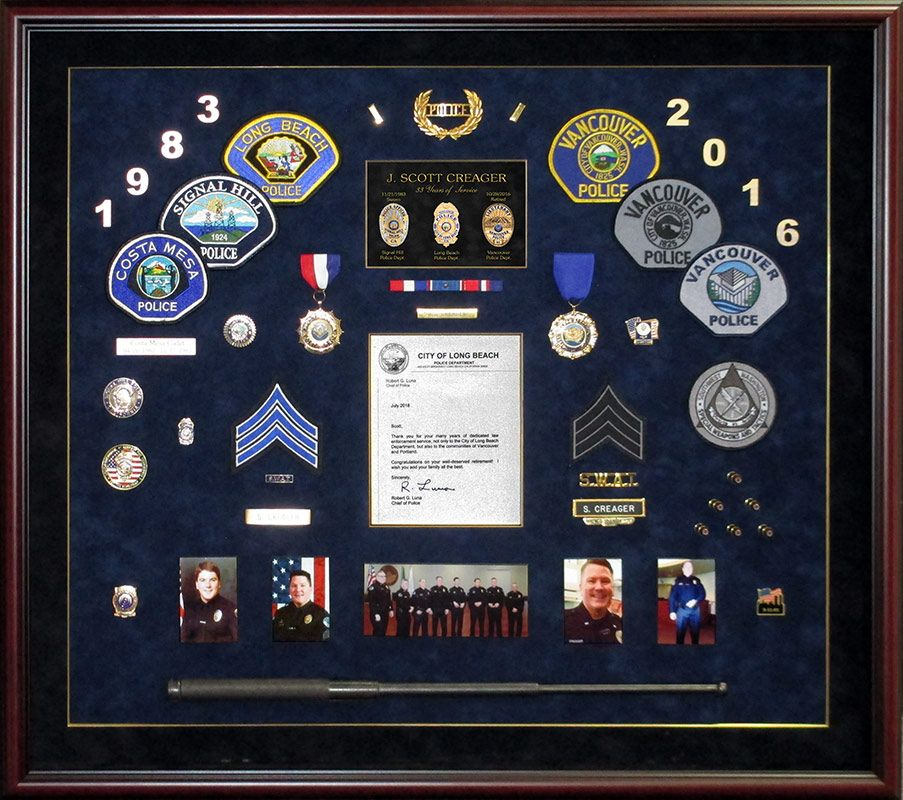 Pin by Badge Frame on Police Shadowboxes | Police, Shadow