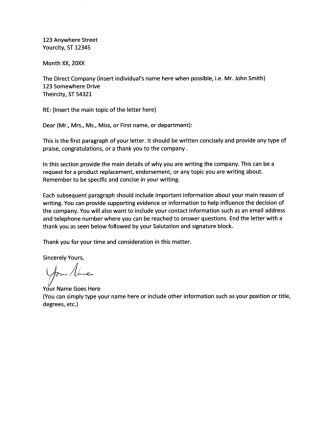 business letter signature format intended for template with two - sample endorsement letter
