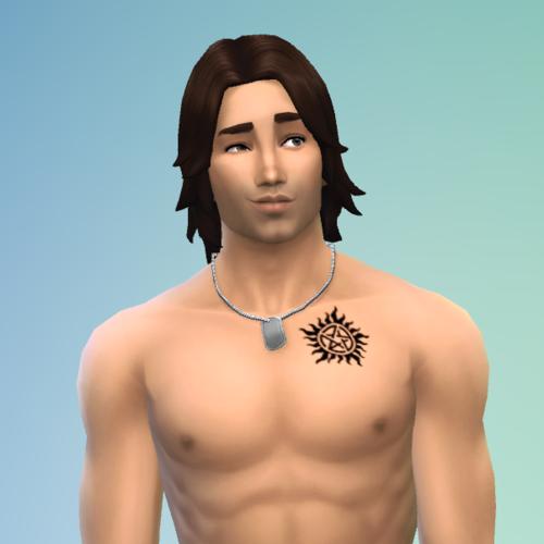 My Sims 4 Blog Supernatural Sam and Dean's Anti