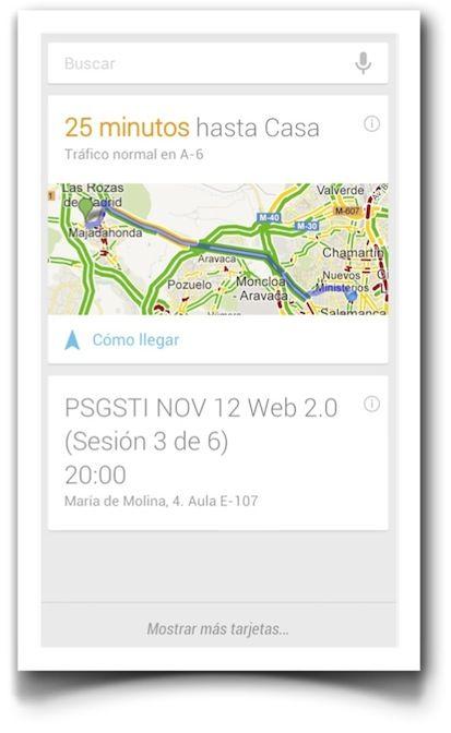 Google Now Entre Lo Util Y Lo Inquietante Google Utiles Y Tarjetas