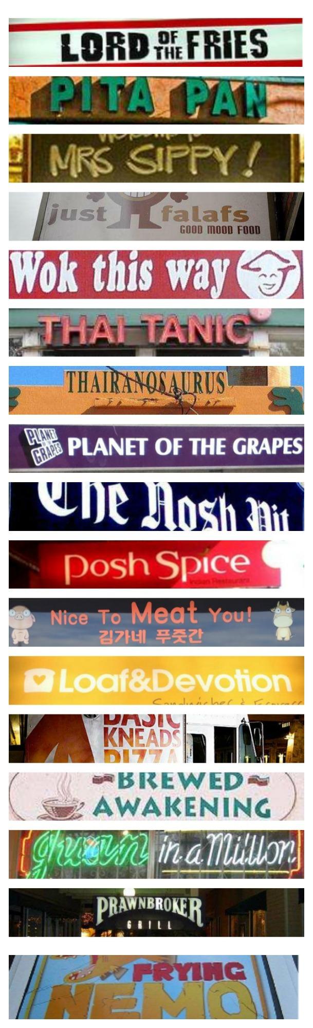 47 punny restaurant names