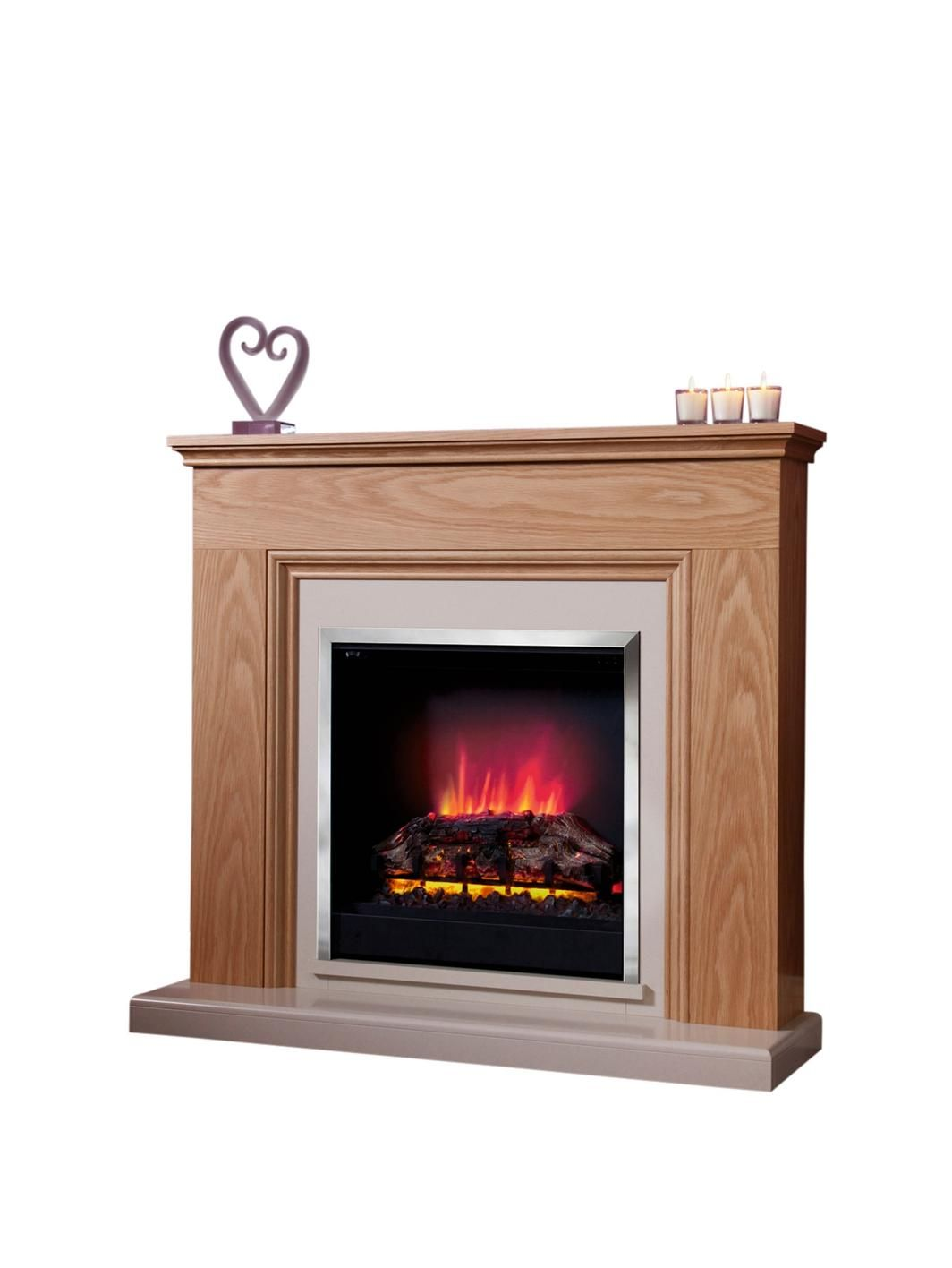 Be Modern Stanton Oak Electric Fireplace Suite Electric fireplace