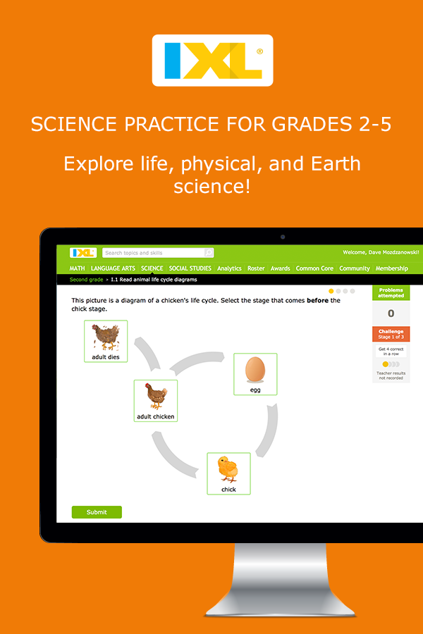 A fun new way for kids to learn and practice science online with IXL ...