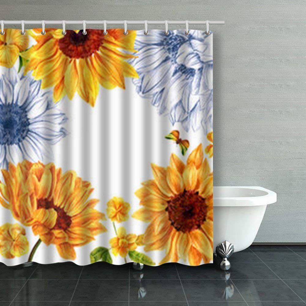 Sunflower Shower Curtain Shower Curtain Curtains Shower