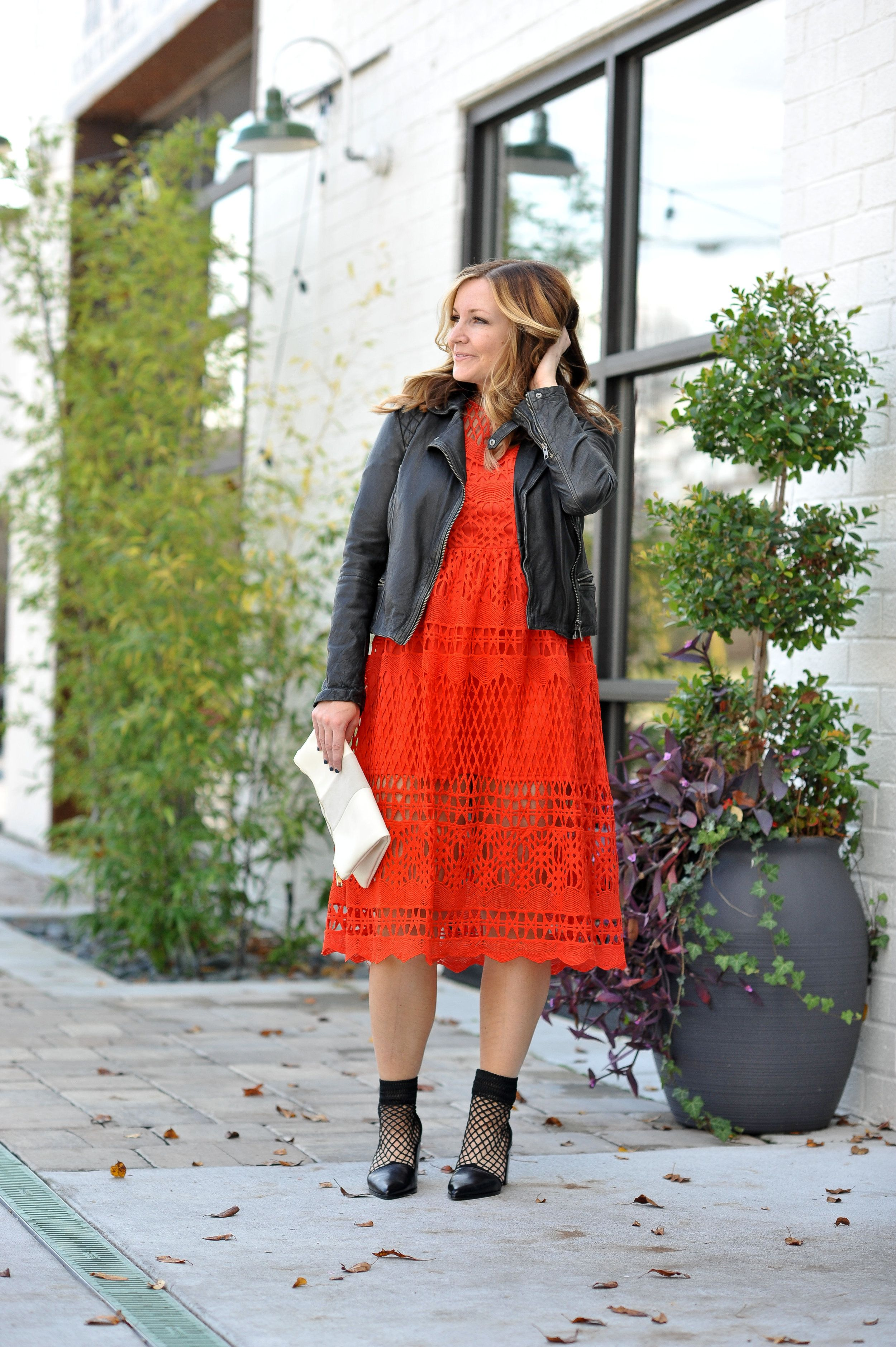 Holiday Red Lace Dress Moto Jacket Ratmj Blog All
