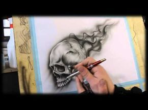 Airbrush Anleitung Fur Anfanger How To Airbrush For Beginners Skull Videotutorial Youtube Airbrush Designs Airbrush Anleitungen
